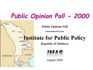 Public Opinion Poll 2000 Public Opinion Poll commissioned