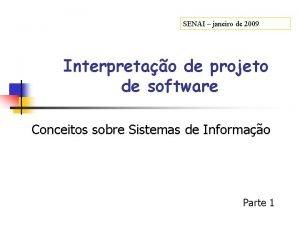 SENAI janeiro de 2009 Interpretao de projeto de