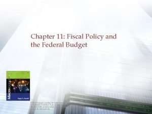 Chapter 11 Fiscal Policy and the Federal Budget