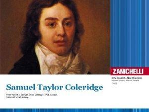 Samuel Taylor Coleridge Peter Vandyke Samuel Taylor Coleridge