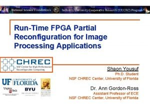 RunTime FPGA Partial Reconfiguration for Image Processing Applications