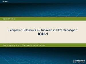 Phase 3 Treatment Nave LedipasvirSofosbuvir Ribavirin in HCV