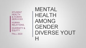 STUDENT HEALTH HUMAN SERVICES HUMAN RELATIONS DIVERSITY EQUITY