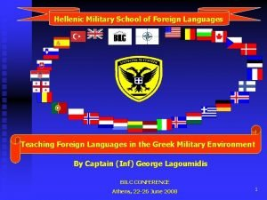 Hellenic Military School of Foreign Languages Teaching Foreign