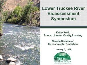 Lower Truckee River Bioassessment Symposium Kathy Sertic Bureau
