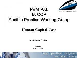 PEM PAL IA COP Audit in Practice Working