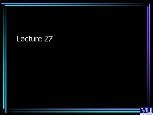 Lecture 27 Extended Read Service used for extended
