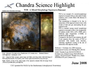 Chandra Science Highlight Chandra Xray Observatory ACIS image