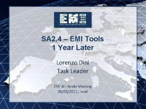 EMI INFSORI261611 SA 2 4 EMI Tools 1