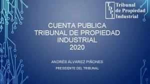 CUENTA PUBLICA TRIBUNAL DE PROPIEDAD INDUSTRIAL 2020 ANDRS