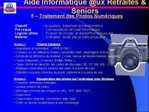 Aide Informatique ux Retraits Seniors 5 Traitement des