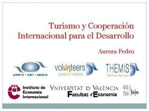Turismo y Cooperacin Internacional para el Desarrollo Aurora