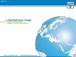 Module 3 2 Modular Centrifugal Pump CENTRIFUGAL PUMP