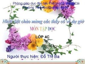 Phng gio dc o to Thnh ph Mng