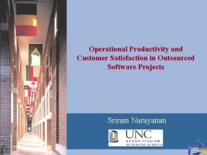 Operational Productivity and Customer Satisfaction in Outsourced Software