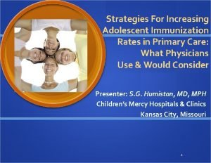 Strategies For Increasing Adolescent Immunization Rates in Primary