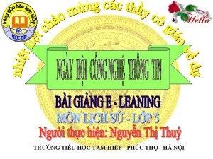 TRNG TIU HC TAM HIP PHC TH H