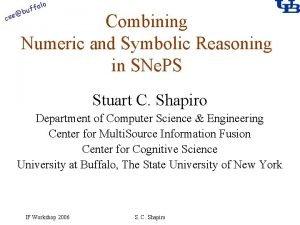 alo f buf cse Combining Numeric and Symbolic