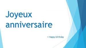 Joyeux anniversaire Happy birthday A Choisis et complte