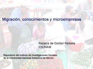 Migracin conocimientos y microempresas Migracin conocimientos y microempresa