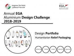 Annual EGA Aluminium Design Challenge 2018 2019 Design