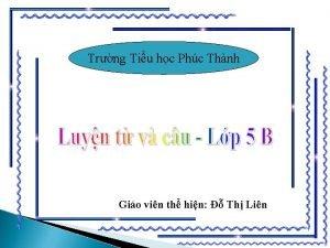 Trng Tiu hc Phc Thnh Gio vin th