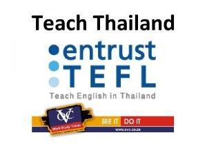 Teach Thailand Non Immigrant B Visa NEW VISA