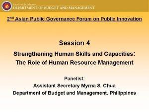 2 nd Asian Public Governance Forum on Public