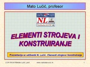 Mato Lui profesor Prezentacija uz udbenik M Lui