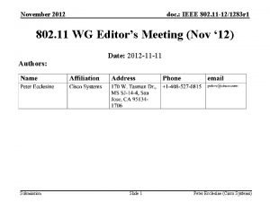 November 2012 doc IEEE 802 11 121283 r