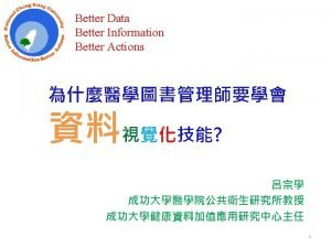 Better Actions Better Information Better Data 3 Better