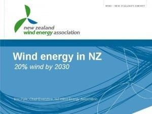 Wind energy in NZ 20 wind by 2030