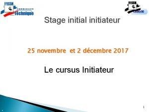 Codep 90 Stage initial initiateur 25 novembre et