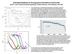 Activated Instability of Homogeneous Nucleation and Growth David