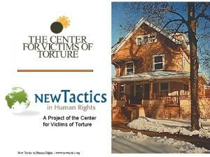 A Project of the Center for Victims of
