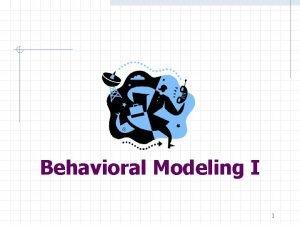 Behavioral Modeling I 1 Structural vs Behavioral Descriptions