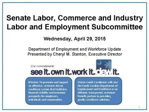 Senate Labor Commerce and Industry Labor and Employment