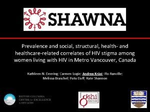 Prevalence and social structural health and healthcarerelated correlates