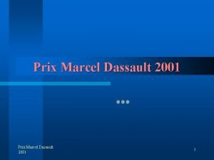 Prix Marcel Dassault 2001 Prix Marcel Dassault 2001