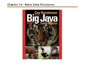 Chapter 16 Basic Data Structures Chapter Goals To