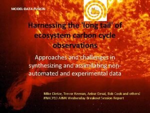 MODELDATA FUSION Harnessing the long tail of ecosystem