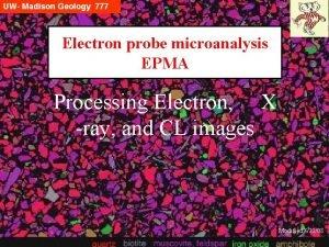 Electron probe microanalysis EPMA Processing Electron X ray