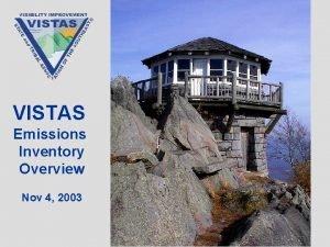 VISTAS Emissions Inventory Overview Nov 4 2003 VISTAS