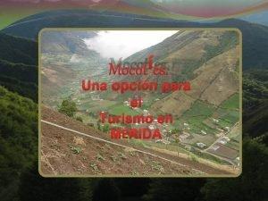 Mocotes Una opcin para el Turismo en MRIDA