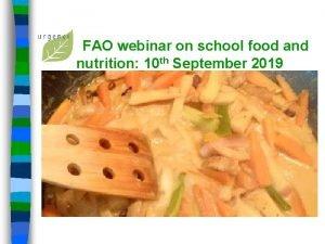 FAO webinar on school food and nutrition 10