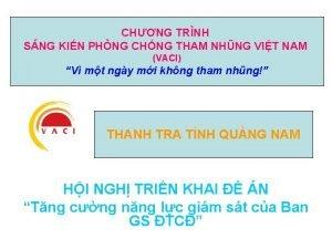 CHNG TRNH SNG KIN PHNG CHNG THAM NHNG