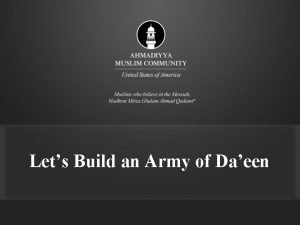 Lets Build an Army of Daeen Holy Quran