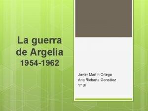 La guerra de Argelia 1954 1962 Javier Martn