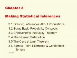 Chapter 3 Making Statistical Inferences 3 1 Drawing