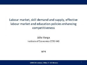 Labour market skill demand supply effective labour market